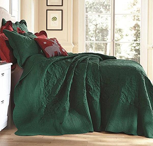 Emerald Green Bedspread - b