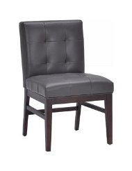 Grey Leather Dining Chair picture-2
