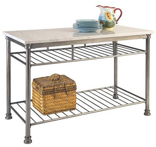 Marble Top Kitchen Work Table - r