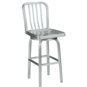 aluminum bar stools with backs picture-1