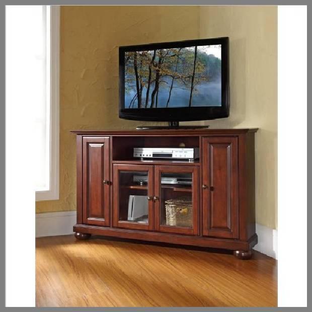 wood corner tv stands image
