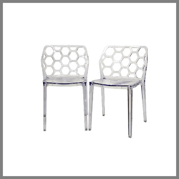 Acrylic dining chair image