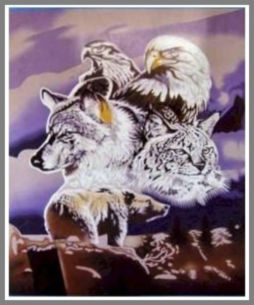 Wildlife throw blankets image