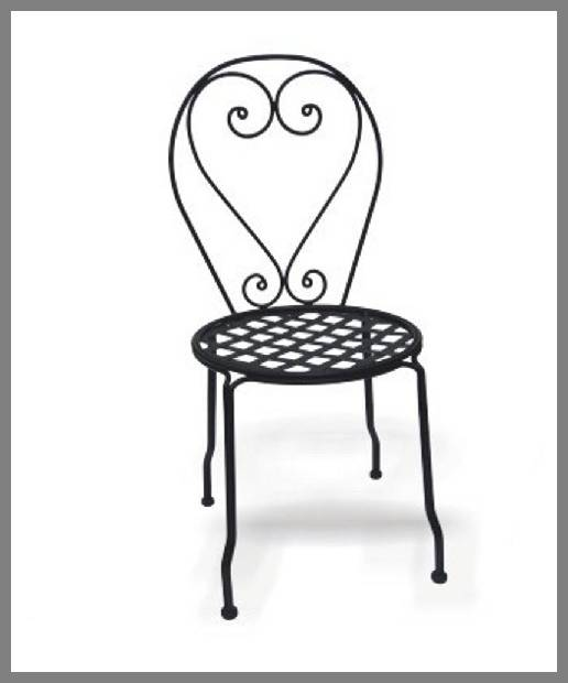 black wrought iron dining chairs -1