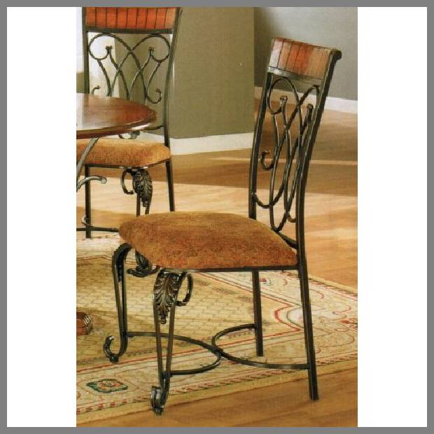 black wrought iron dining chairs -2