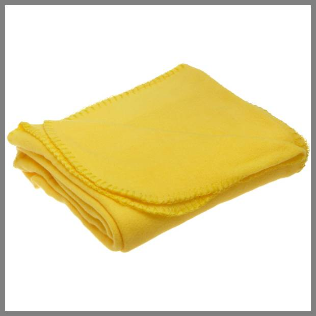 bright yellow throw blanket image