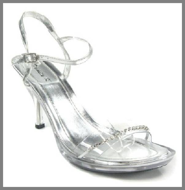 cheap clear wedding shoes image