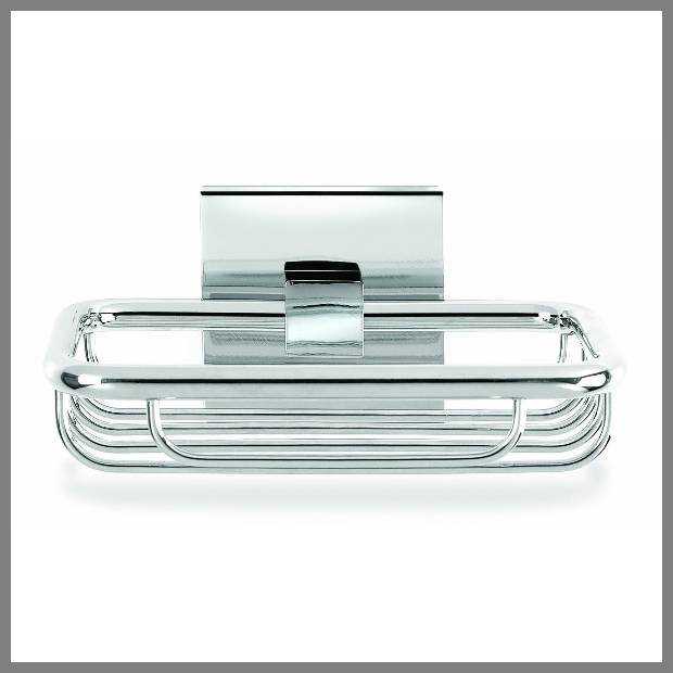 chrome soap dish for shower image