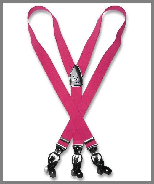 mens pink suspenders image