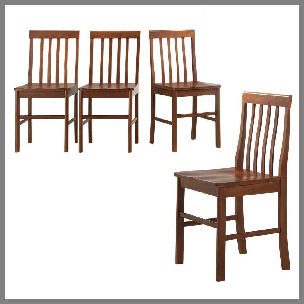 solid wood dining chairs image