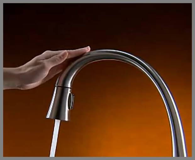 touch sensitive kitchen faucet image