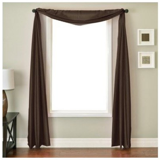 Brown scarf valance