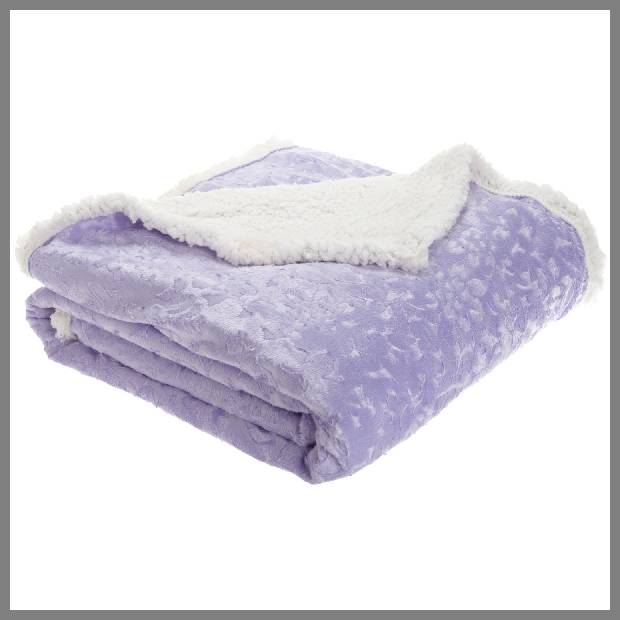 Lavender throw blanket image