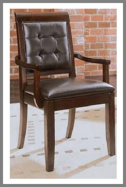 Leather dining arm chair image