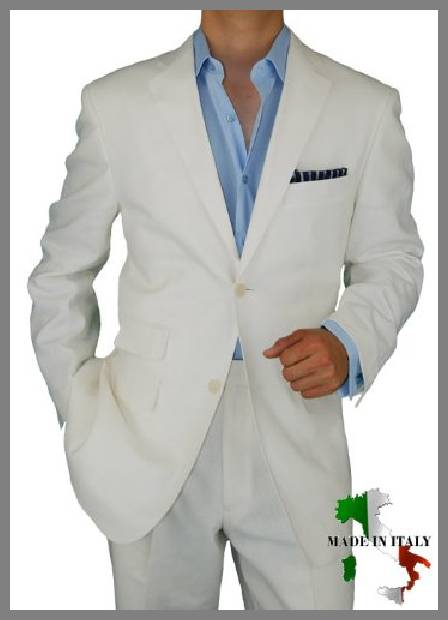 Mens summer linen suits image