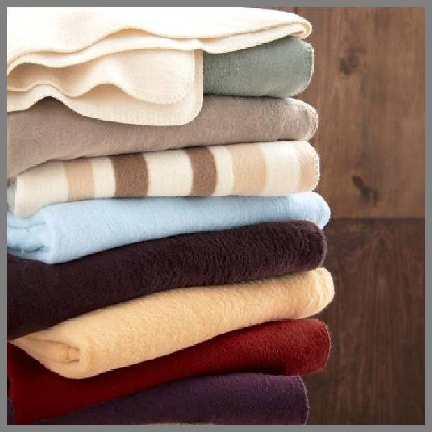 Organic cotton throw blanket