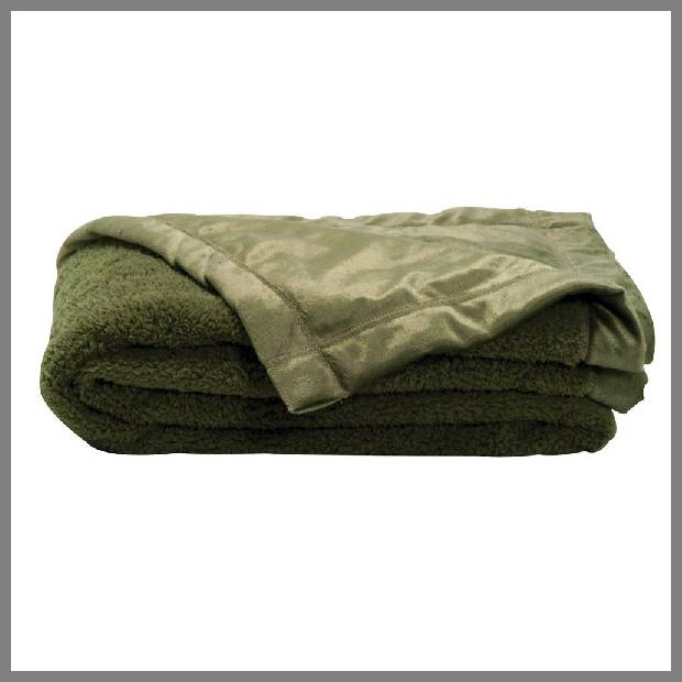 Sage green throw blanket