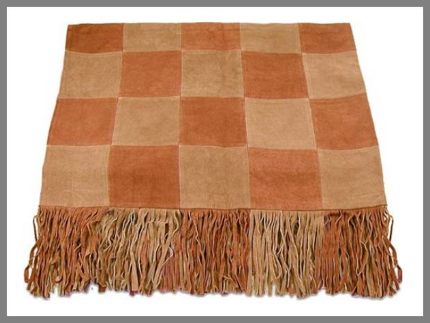 Suede throw blanket