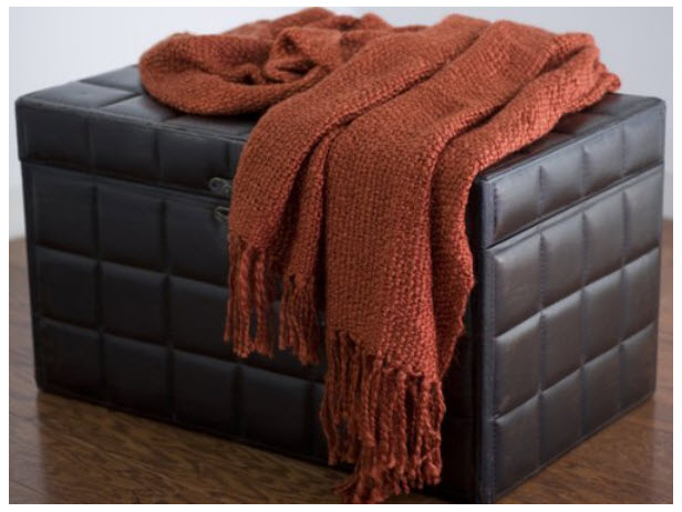 Fringed throw blankets