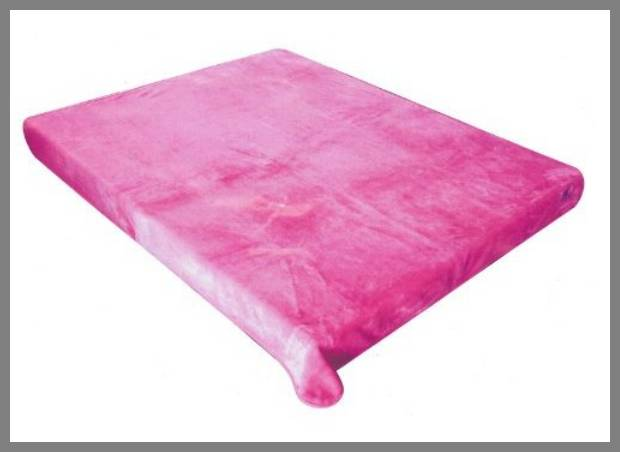 Hot pink throw blanket