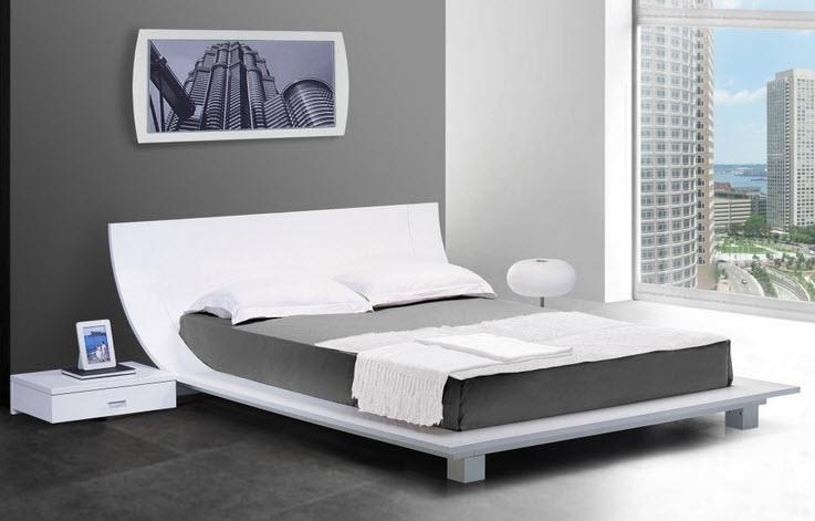 Queen size platform bed frame - b