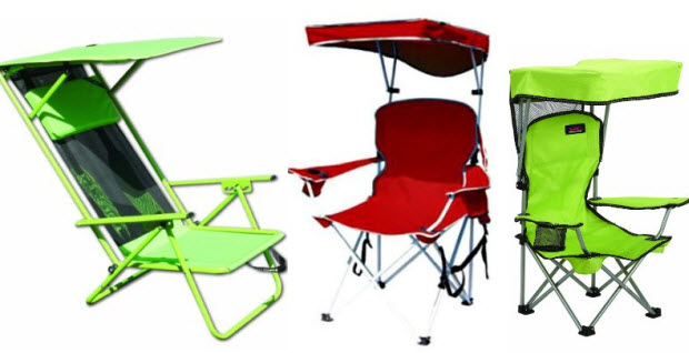 Beach chair with shade canopy