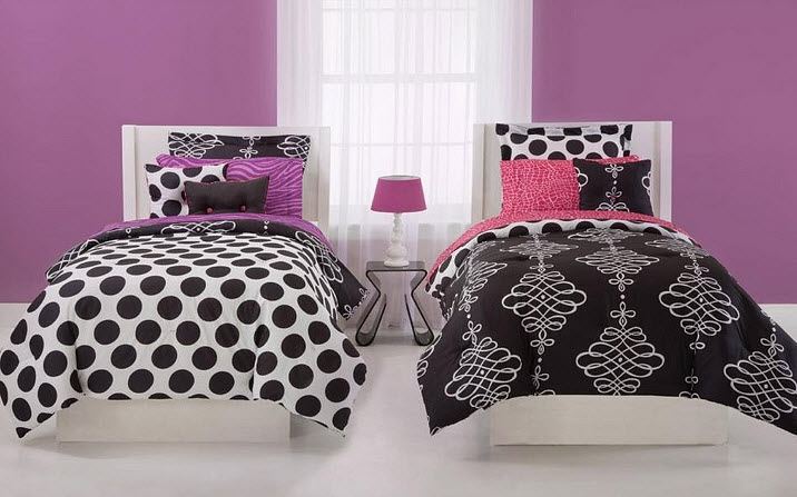 Black and white twin comforters