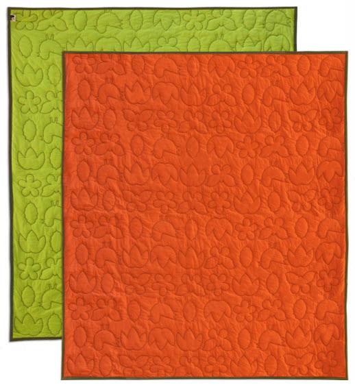 Orange coverlet