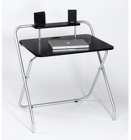 Folding computer table - 2