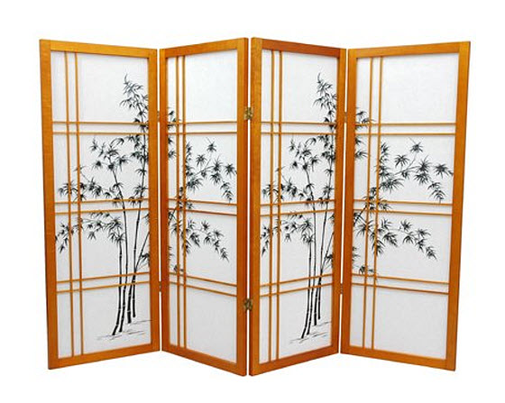 Japanese style room divider privacy screen