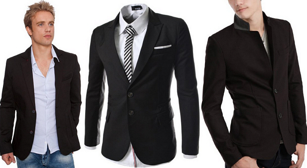 Mens black casual blazer