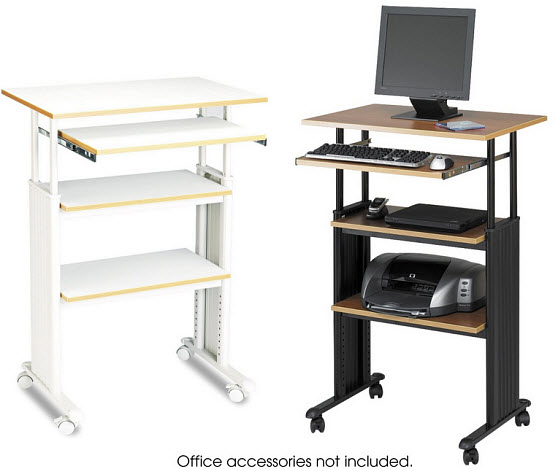 Adjustable height standing computer desk