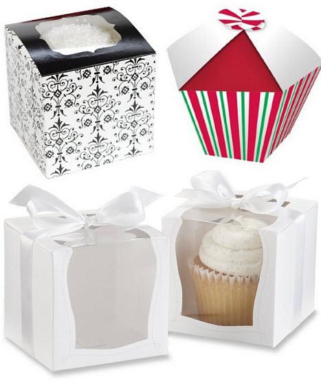 Individual cupcake gift boxes