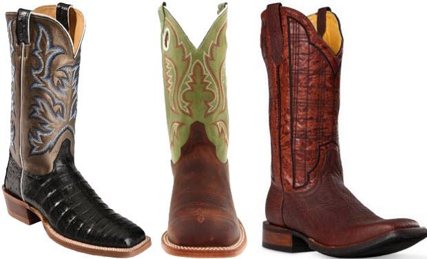 Mens square toe cowboy boots
