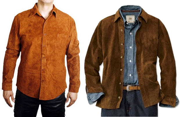 Mens suede shirts