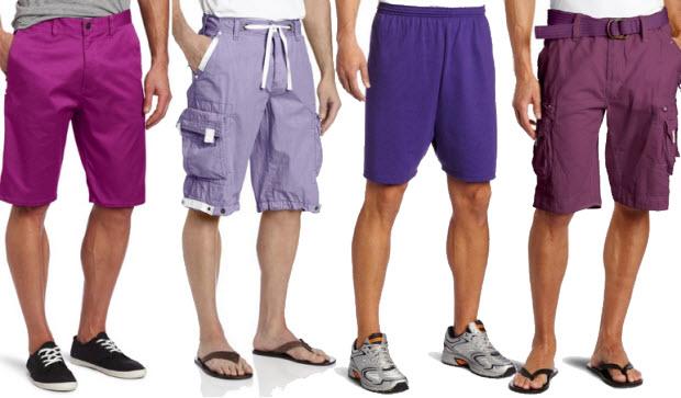 Purple shorts for men