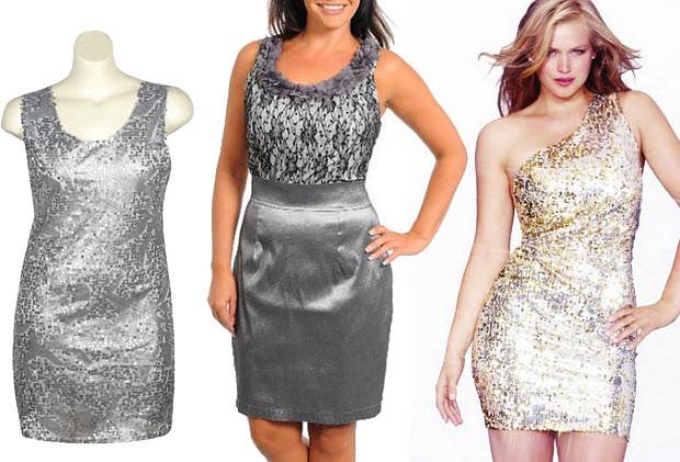 Silver dresses for plus size women