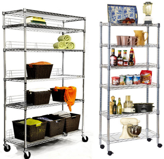 Wire shelving units with wheels