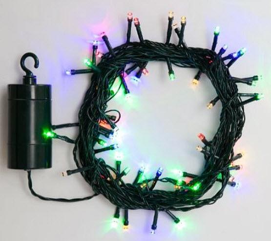 Battery powered Christmas tree string lights