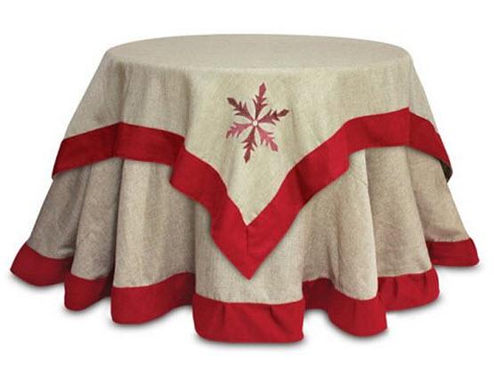 Christmas embroidered tablecloth
