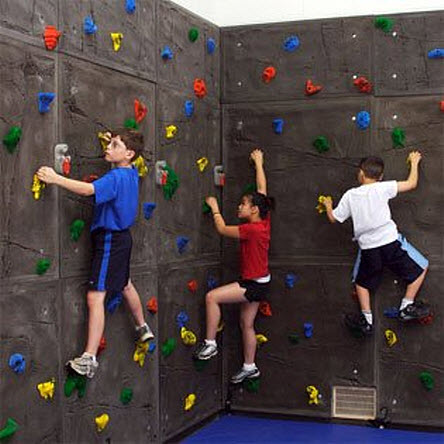 Home rock climbing wall for kids