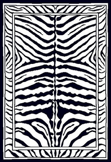Large zebra stripe pattern rug