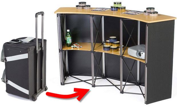 Portable trade show booth kiosks