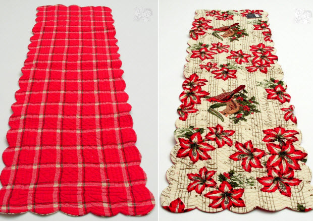 Quilted Christmas table runners