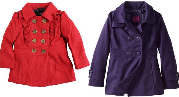 Toddler wool blend coats