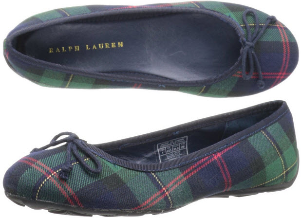 Girls tartan slippers