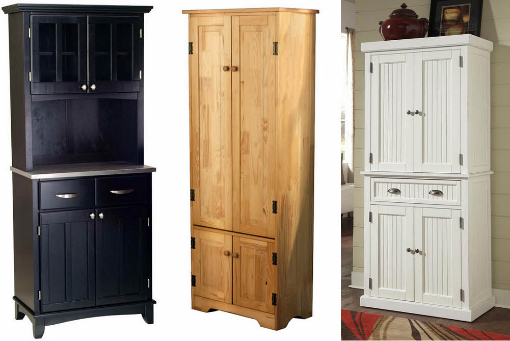 Country style storage cabinets