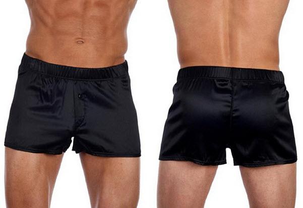 Mens black silk boxers