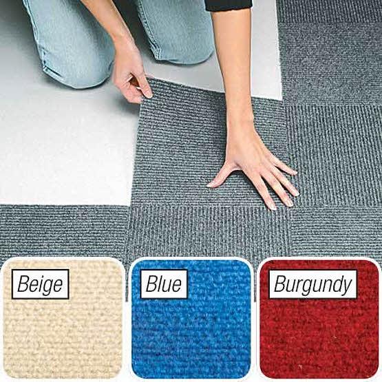 Self-stick carpet squares