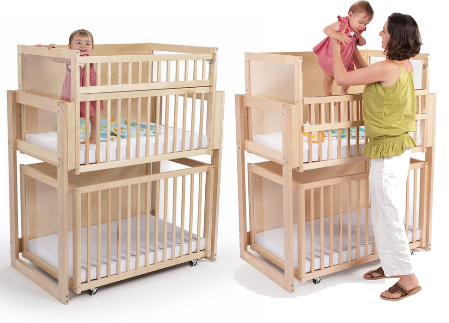 Double cribs for twins